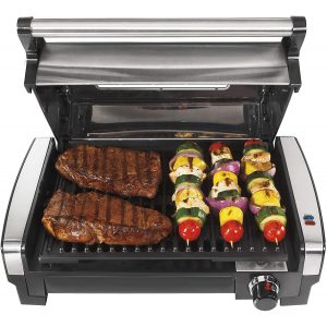 Hamilton Beach Electric Grill Indoor Non-Stick Detachable Plate