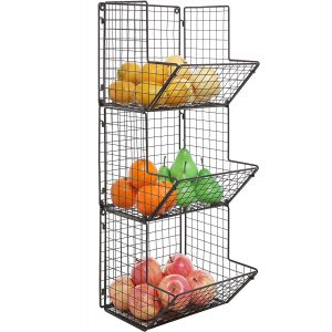 MyGift 3 Tier Kitchen Storage Rack for Fruit