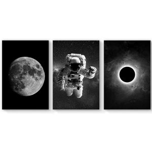 SIGNFORD Astronaut Grand Eclipse Kids Canvas Painting for Living Room Decorations