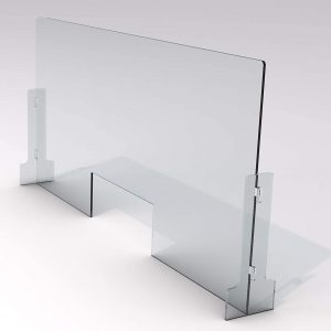Exalt Samples LLC SneezeDefense Acrylic Shield for Counter 28 x 36 Inches