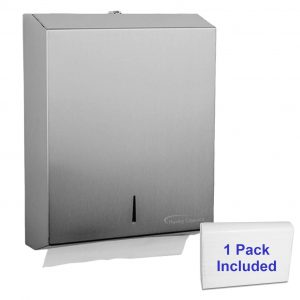 Huxley Classics Paper Towel Dispenser Stainless Steel 2 Keys and One Pack Paper Towel