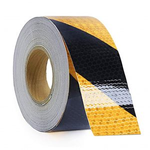 RELIANCER Waterproof 2-inches x 150Ft Yellow Black Safety Reflective Tape