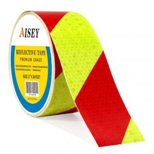AISEY Reflective Tape Waterproof Yellow/Red 2-Inches x 30Ft