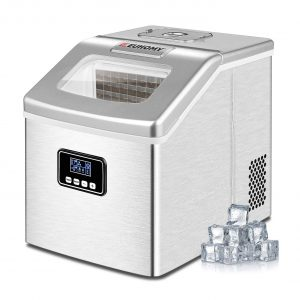 Euhomy Ice Maker 40lbs/24hrs Portable Compact Ice Cube Maker