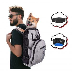 PROPLUMS Dog Carrier Backpack with Detachable Storage Bag