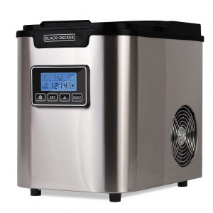 BLACK+ DECKER 26Lbs Stainless Steel Ice Maker