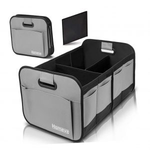 Homeve Foldable Trunk Storage Organizer with Reinforced Handles