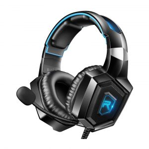 RUNMUS Gaming Headset for PS4 with Mic and LED Light