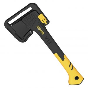 LEXIVON Camping 14 Inches Axe with Ergonomic TPR Grip