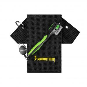 Prowithlin Golf Club Brush 2FT Retractable Zip-Line Wire Bristles