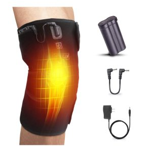 HOOCUCO Heated Knee Brace Wrap Support Rechargeable Infrared Heating Pad