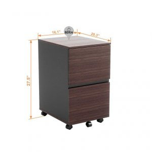 Bestier 2 Drawer File Cabinet for Office