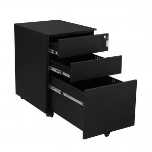 SONGMICS Steel File 3-Drawer Cabinet