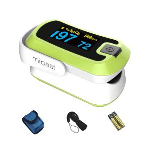 MIBEST Green Dual Color OLED Oxygen Monitor Finger