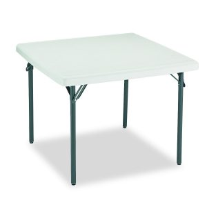 Iceberg indestrucTable 37-Inches Square Folding Table